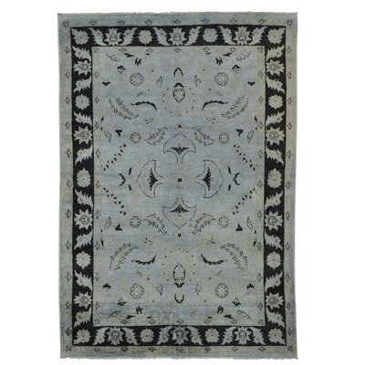 Overdyed Sultanabad Oriental Hand-Knotted Gray Area Rug