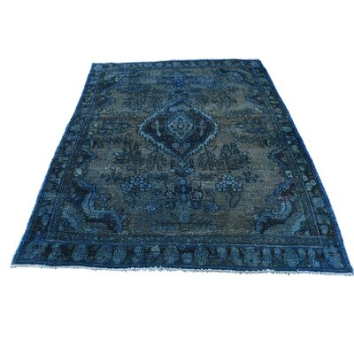 One-of-a-Kind Kendrick Vintage Overdyed Lilahan Oriental Hand-Knotted Area Rug