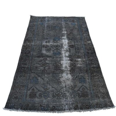 One-of-a-Kind Kendrick Vintage Overdyed Hamadan Hand-Knotted Area Rug