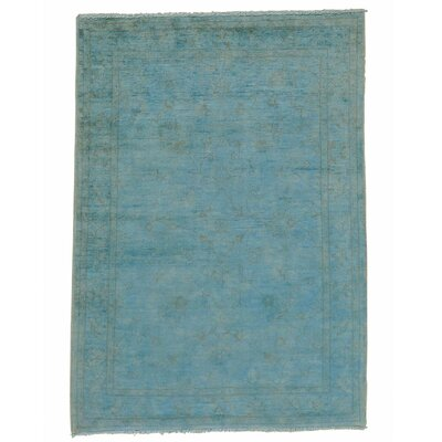 Overdyed Sultanabad Oriental Hand-Knotted Blue Area Rug