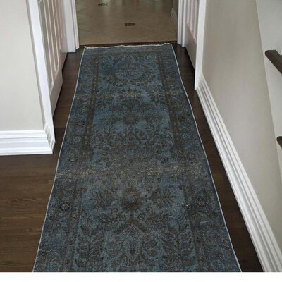 One-of-a-Kind Lear Overdyed Lilahan Worn Hand-Knotted Area Rug