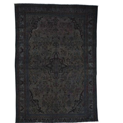 One-of-a-Kind Kendrick Vintage Overdyed Bibikabad Oriental Hand-Knotted Area Rug