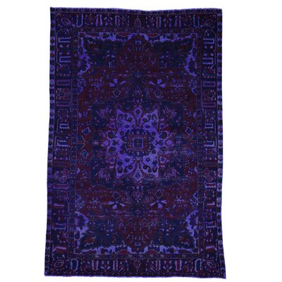 One-of-a-Kind Govan Vintage Overdyed Oriental Hand-Knotted Area Rug