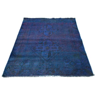 One-of-a-Kind Govan Vintage Overdyed Shiraz Oriental Hand-Knotted Area Rug