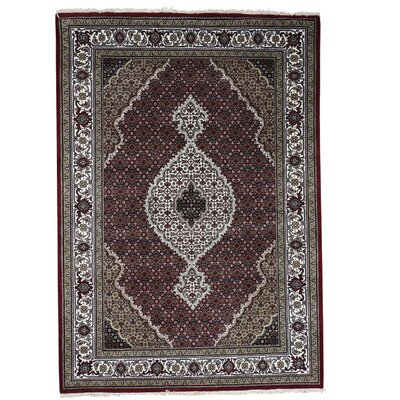 One-of-a-Kind Rudolph 250 Kpsi Mahi Oriental Hand-Knotted Silk Area Rug
