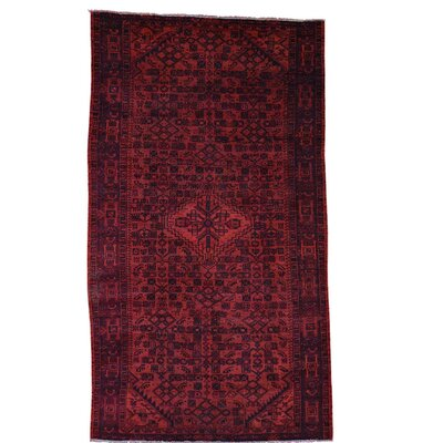 One-of-a-Kind Govan Vintage Overdyed Malayer Hand-Knotted Silk Area Rug