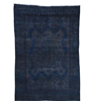 One-of-a-Kind Govan Vintage Overdyed Hand-Knotted Silk Area Rug