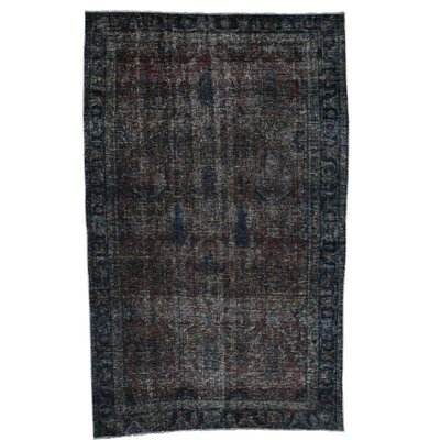 One-of-a-Kind Govan Vintage Overdyed Oriental Hand-Knotted Silk Area Rug