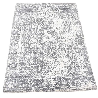 One-of-a-Kind Ninon Broken Oriental Hand-Knotted Silk Area Rug
