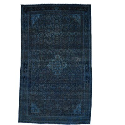 One-of-a-Kind Govan Vintage Overdyed Hussainabad Hand-Knotted Silk Area Rug
