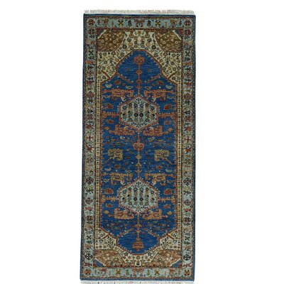 One-of-a-Kind Graver Natural Dyes High KPSI Oriental Hand-Knotted Area Rug