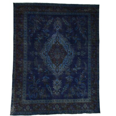 One-of-a-Kind Kendrick Vintage Overdyed Hand-Knotted Silk Area Rug