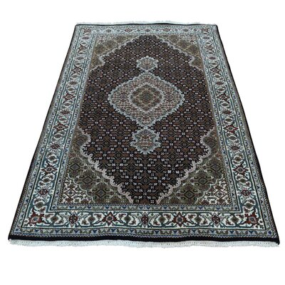 One-of-a-Kind Saltzman 250 Kpsi Mahi Oriental Hand-Knotted Silk Area Rug