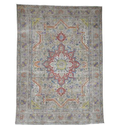 One-of-a-Kind Saltzman Painted Vintage Oriental Hand-Knotted Silk Area Rug