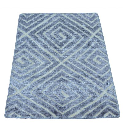 One-of-a-Kind Woodson High and Low Hand-Knotted Silk Area Rug