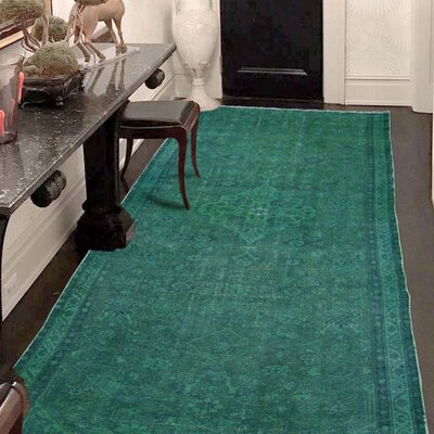 One-of-a-Kind Greenawalt Vintage Overdyed Malayer Hand-Knotted Silk Area Rug