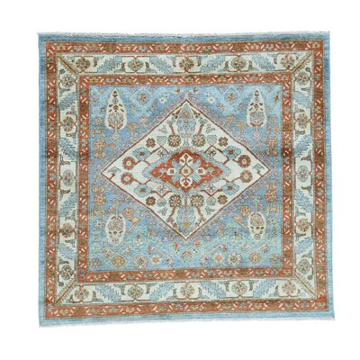 One-of-a-Kind Lawerence Choeb Rang and Geometric Oriental Hand-Knotted Area Rug