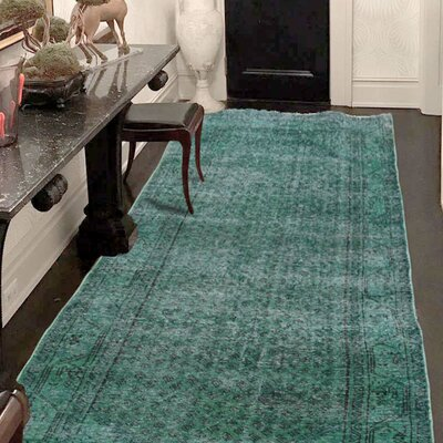 One-of-a-Kind Greenawalt Vintage Overdyed Hand-Knotted Silk Area Rug