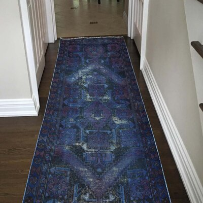 One-of-a-Kind Kenilworth Vintage Overdyed Hand-Knotted Area Rug