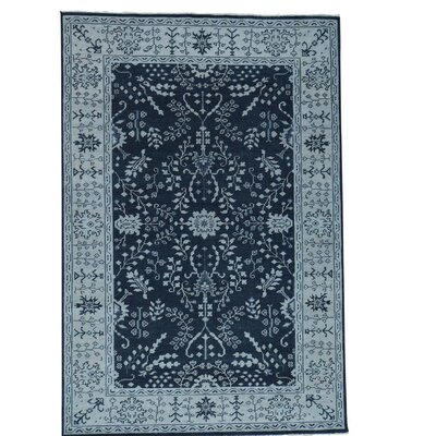 One-of-a-Kind Oritz Knot Oushak Sarouk Oriental Hand-Knotted Area Rug