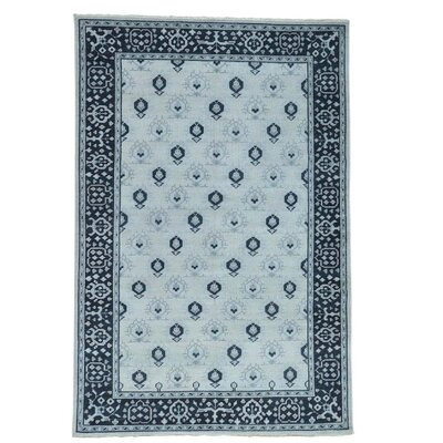 One-of-a-Kind Oritz Knot Oushak Cropped Oriental Hand-Knotted Area Rug