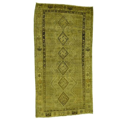 Overdyed Shiraz Hand-Knotted Yellow Area Rug