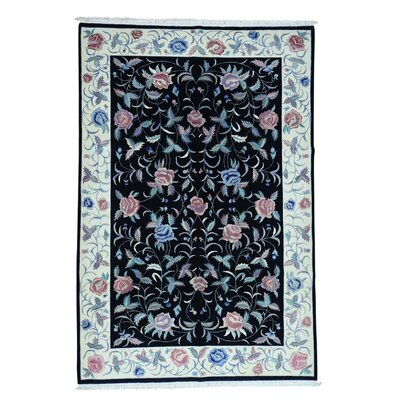 One-of-a-Kind Salzer Sino Dense Weave Botanical Hand-Knotted Area Rug