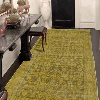 One-of-a-Kind Greenawalt Vintage Overdyed Hussainabad Hand-Knotted Silk Area Rug