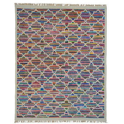 Durie Kilim Hand-Knotted Beige/Blue Area Rug
