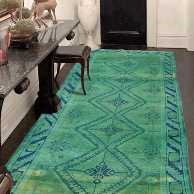 One-of-a-Kind Greenawalt Vintage Overdyed Shiraz Hand-Knotted Silk Area Rug