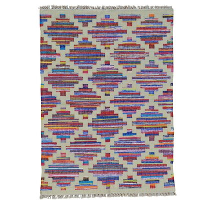Durie Kilim Oriental Hand-Knotted Beige/Purple Area Rug