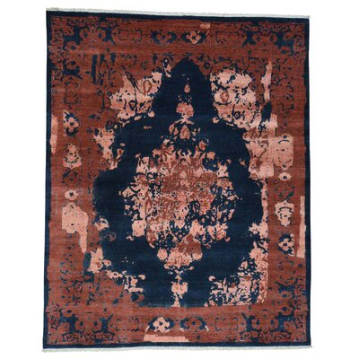 One-of-a-Kind Gowins Broken Oriental Hand-Knotted Silk Area Rug