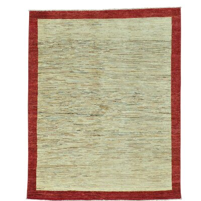 One-of-a-Kind Rossman Striped Oriental Hand-Knotted Area Rug