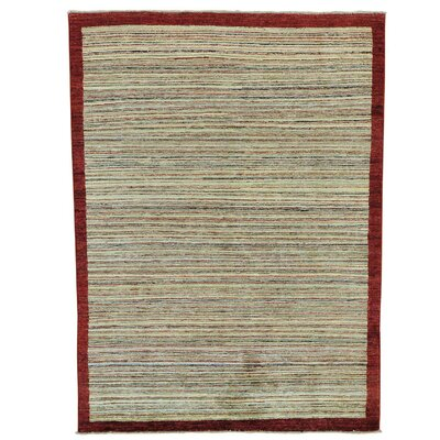 One-of-a-Kind Gowan Striped Oriental Hand-Knotted Area Rug