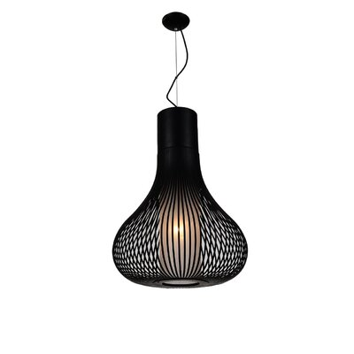 Vivien 1-Light Geometric Pendant Shade Color: Black