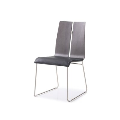 Lauren Dining Chair Upholstery: Gray/Black