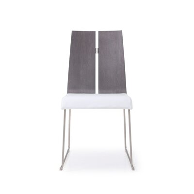 Lauren Dining Chair Upholstery: Gray/White