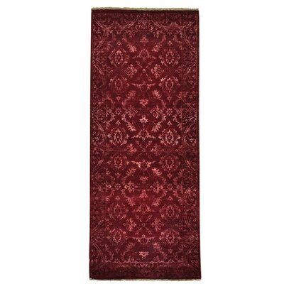 One-of-a-Kind Walsall Tone on Tone Damask Hand-Knotted Silk Area Rug