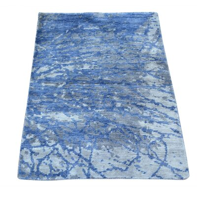 One-of-a-Kind Bannruod Abstract Oriental Hand-Knotted Area Rug