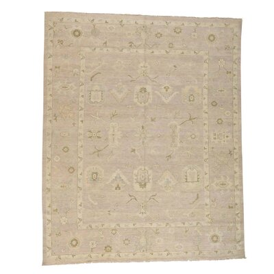 One-of-a-Kind Kating Taupe Oriental Hand-Knotted Area Rug