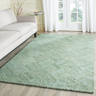 Millia Hand-Tufted Green Area Rug Rug Size: Rectangle 4 x 6