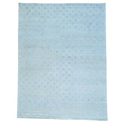 Oidized Tone on Tone Hand-Knotted Silk Gray Area Rug
