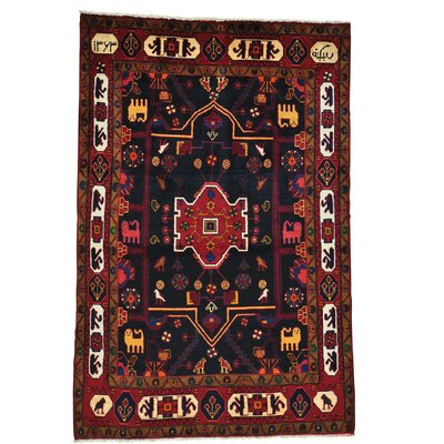 One-of-a-Kind Samford Signed Nahavand Oriental Hand-Knotted Area Rug
