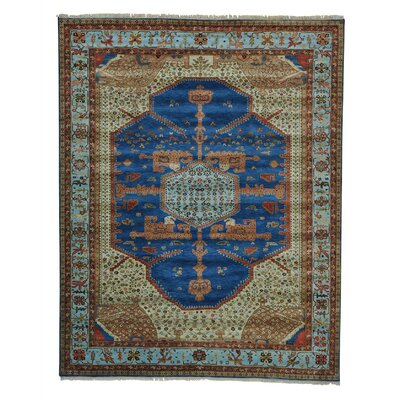 One-of-a-Kind Griego Dense Weave Vegetable Dyes Oriental Hand-Knotted Area Rug