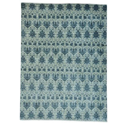 One-of-a-Kind LeClaire Transitional Oriental Hand-Knotted Silk Area Rug