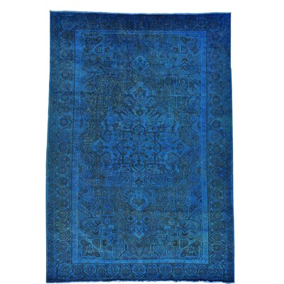 One-of-a-Kind Greenawalt Overdyed Worn Down Oriental Hand-Knotted Area Rug