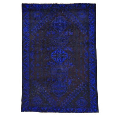 One-of-a-Kind Greenawalt Overdyed Worn Down Shiraz Oriental Hand-Knotted Area Rug