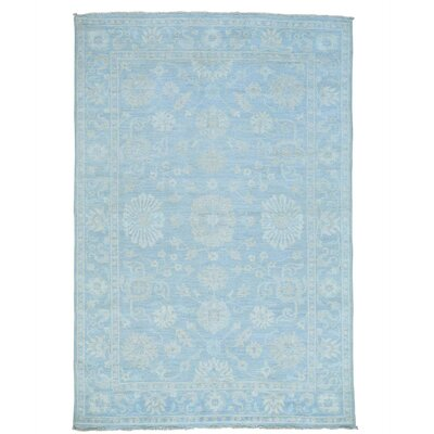 Samarkand Oriental Hand-Knotted Blue Area Rug