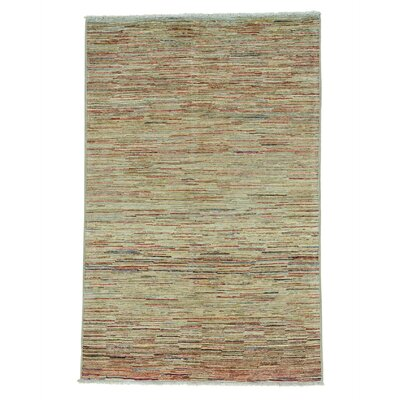 One-of-a-Kind Mehl Peshawar Oriental Hand-Knotted Area Rug