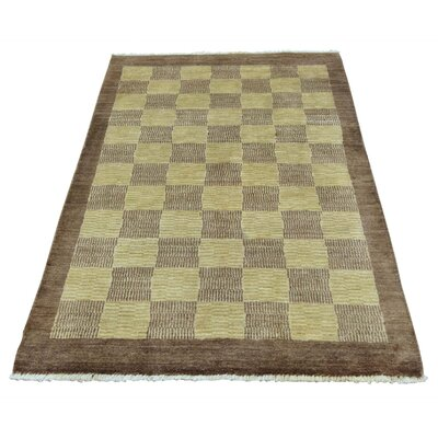 One-of-a-Kind Gabaldon Modern Brown Shades Hand-Knotted Area Rug